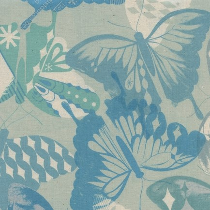 Flutter Aqua from the Flutter collection by Cotton + Steel
