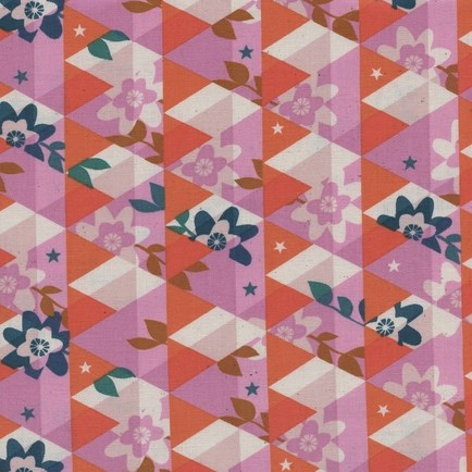 Kaleidoscope Pink from the Flutter collection by Cotton + Steel