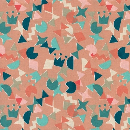 Shape Up Peachy from the Paper Cuts collection by Cotton + Steel
