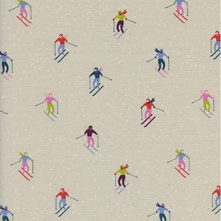 Ski Peeps Neutral from the Frost collection by Cotton + Steel. 100% unbleached cotton