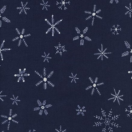 Flurry Navy from the Frost collection by Cotton + Steel. 100% cotton
