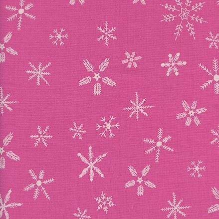 Flurry Pink from the Frost collection by Cotton + Steel. 100% unbleached cotton