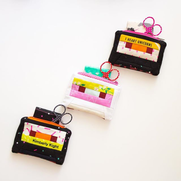 Snap to Grid cassette purses with scissors