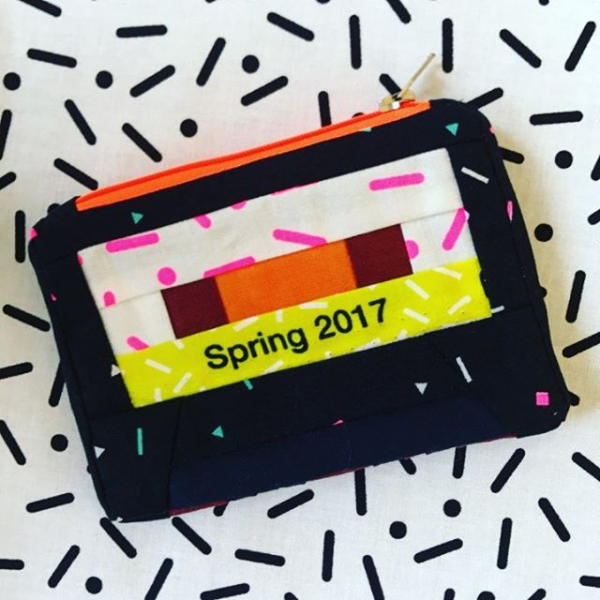 Snap to Grid cassette purse