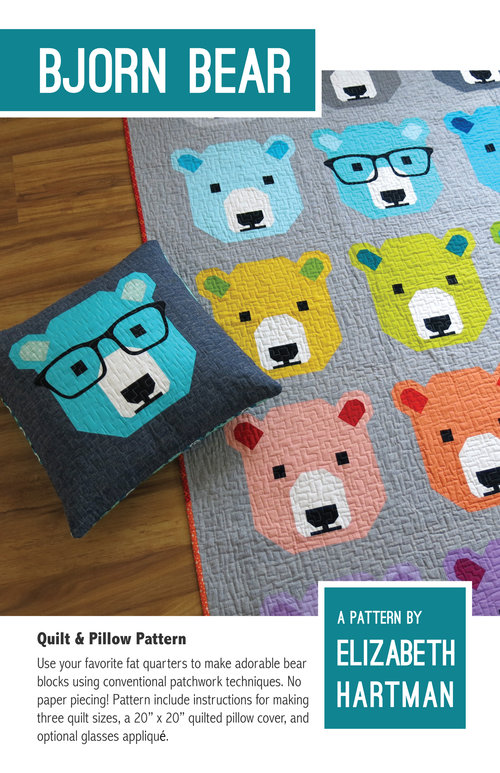 Bjorn Bear Quilt & Pillow Pattern by Elizabeth Hartman