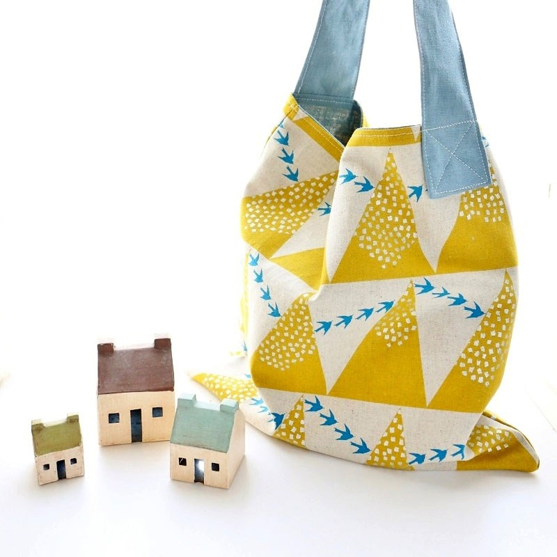 Echino Hill in Yellow Square Bag