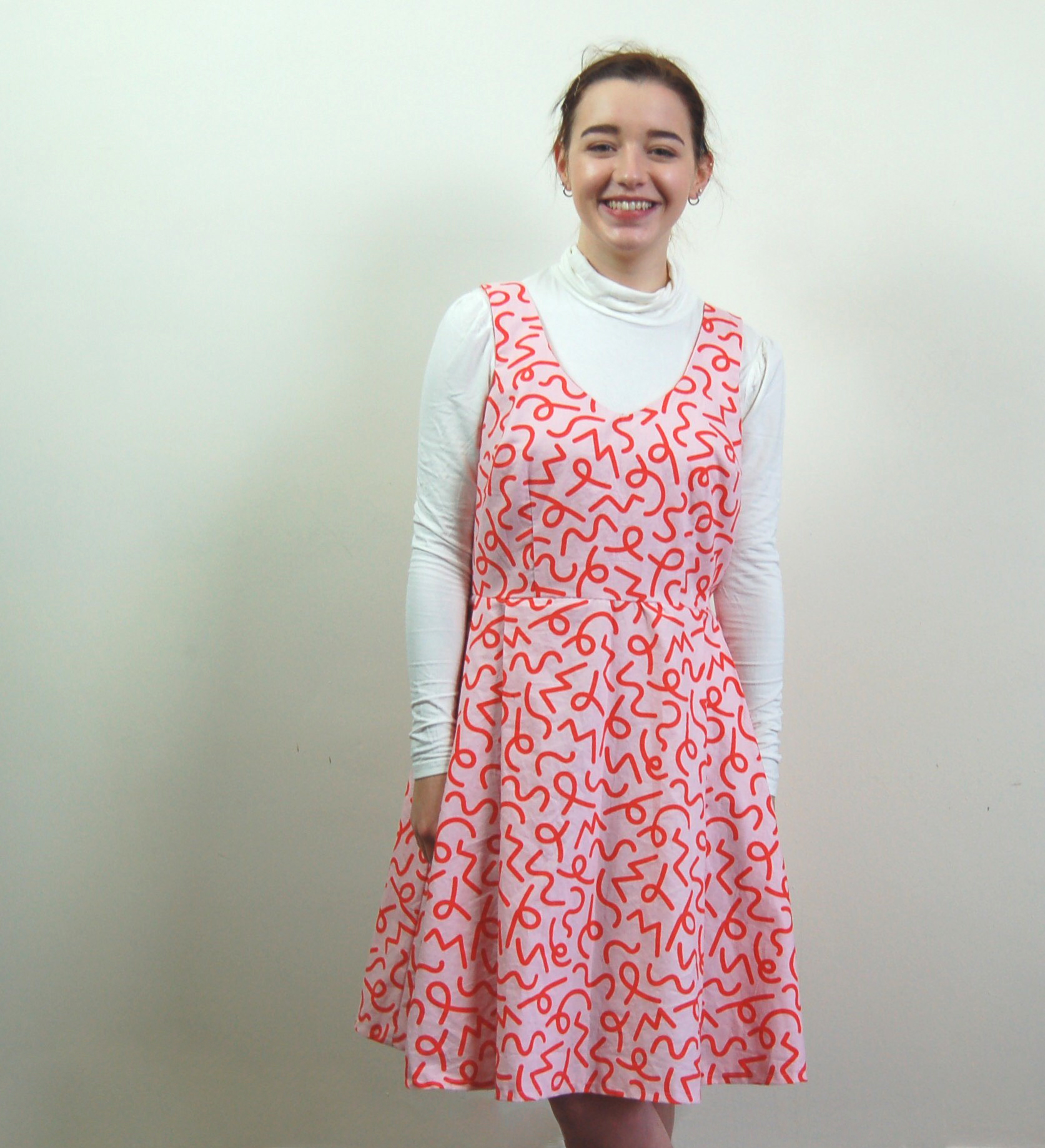 Lilou Dress in Permanent Wave Pink by Harriet Johnson