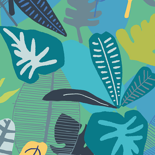 Jungle Tropicale from the Sirena collection by Art Gallery Fabric. 100% Cotton Quilting Fabric