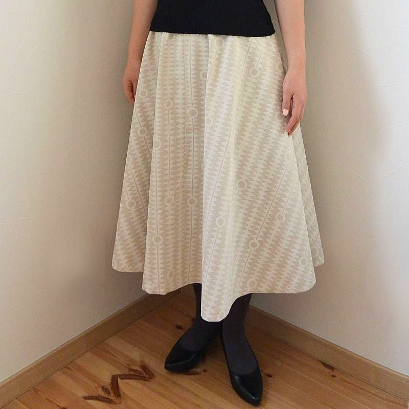 Kuki To Tane Natural semi-circular dress