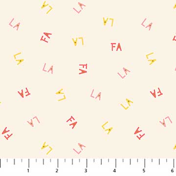 Letters Beige from the Polar Magic collection by Figo Fabrics, 100% cotton fabric
