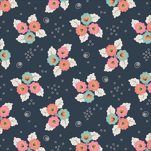 Monsoon Bloom from the Tropical Garden collection by Cloud 9 Fabrics