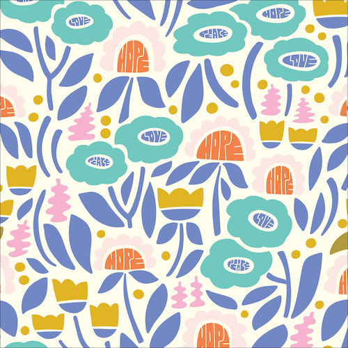 Plant Wisdom from the Universal Love collection by Cloud 9 Fabrics