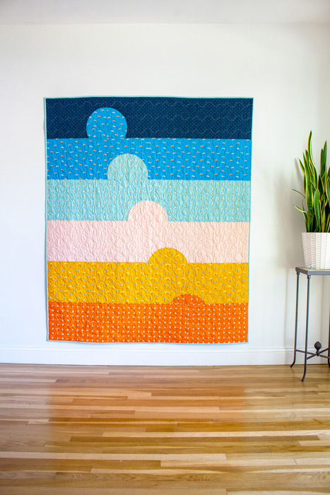 Sunset Bliss Quilt by XOXSEW