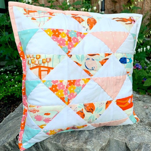Rainbow Geese Pillow Pattern by Ruth and Esther