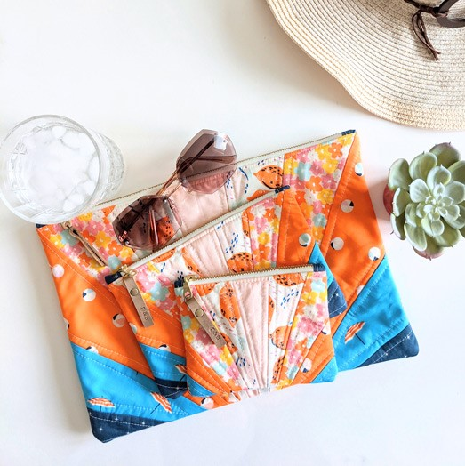 Sunburst Pouch by Ruth and Esther