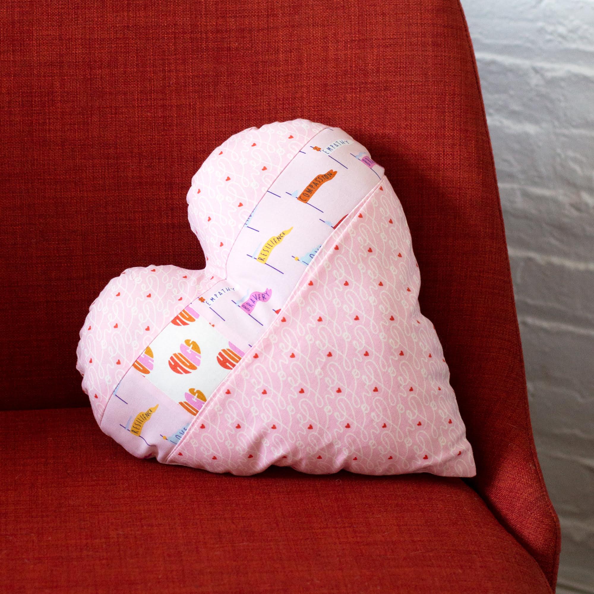 Pocket Full of Love Cushion Pattern by Cloud 9 Fabrics
